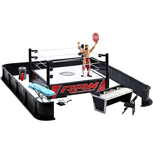 Mattel WWE Wrestling Ring Exclusive Playset PPV Ringside Battle Ring [Includes Daniel Bryan Figure] by Mattel