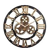 LUDAXUE Reloj de pared engranaje Sin ruido silencioso engran