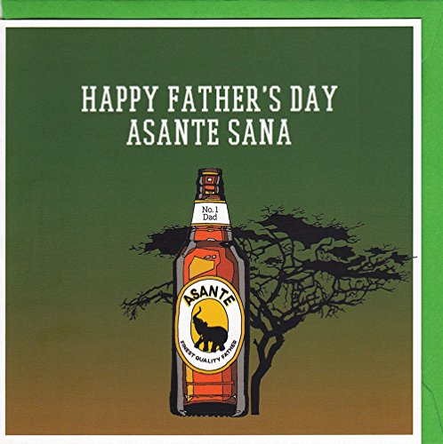 Happy Father's Day Asante Sana! - Quirky Kenyan Beer Vatertagskarte handgezeichnet