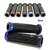 """7/8"""" Motorcycle Hand Grips, Aluminium Motorcycle Rubber Grips for CBR Shadow Ninja GSXR"""