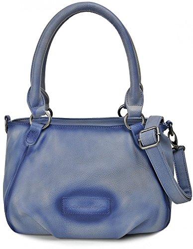 FRITZI AUS PREUSSEN, Damen Henkeltaschen, Handtaschen, 31 x 18 x 17 cm (B x H x T), Farbe:Blau
