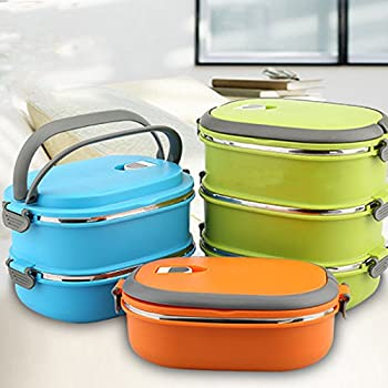 3 Layers Thermal Lunch Box Stainless Steel Food Storage Container Bento Box Bags