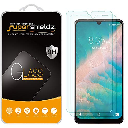 (2 Pack) Supershieldz for ZTE Blade 10 and Blade 10 Prime Tempered Glass Screen Protector, Anti Scratch, Bubble Free