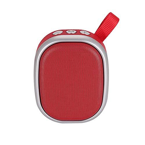 TIANYOU Altavoz Portátil, Soporte Bluetooth 5.0, Fm, Usb, Reproducción Tf, Mini Altavoz Portátil Al Aire Libre, Rojo Juego persistente