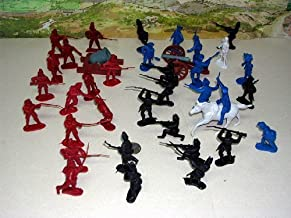 54 mm American Revolution Figures, 37 Pieces Toy Soldier Set