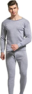 Suppyfly - Conjunto de pijama para hombre sin costuras, elástico, de terciopelo cálido, para el hogar gris gris L
