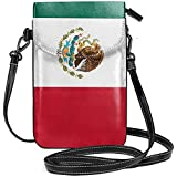 Inner-shop Bandera de México Monedero de cuero para teléfono móvil Monedero Funcional Multi bolsillo