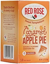 Red Rose Sweet Temptations Naturally Flavored Sweetened Tea (0 Calories) 18 Tea Bags (Caramel Apple)