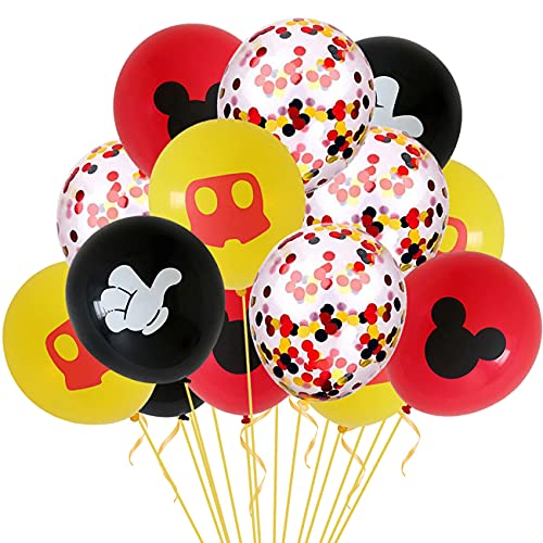 Decoraciones de cumpleaños de Mickey Mouse,globos de Mickey Mouse,Mickey y Minnie de Feliz cumpleaños Globos para fiestas de cumpleaños Decoraciones para Baby(30 globos)
