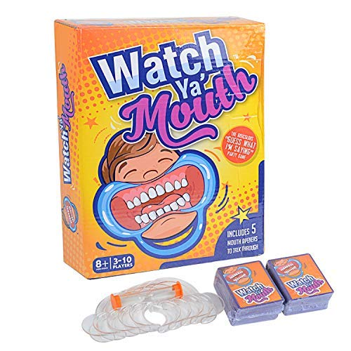 Speak Out The Card Game, mouthguard Game, Watch Your Mouth, with Plastic Toy Braces…