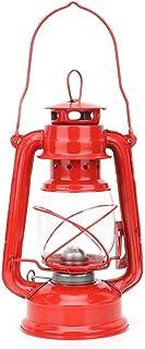 nobrands Lámpara de Queroseno Vintage Hierro Linterna Lámpara de Aceite Fiesta Pub Decoración Regalo(Rojo)