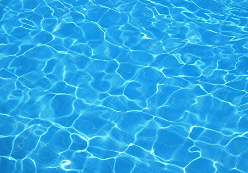 wandmotiv24 Fotobehang Water zwembad reflectie XXL 400 x 280 cm - 8 delen Fotobehang, muurschildering, motiefbehang, vliesbehang Blauw, vakantie, licht Blauw, vakantie, licht M1010