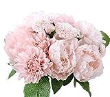JUNGEN Bouquet Fleur Pivoine en Silk Plante Artificiel Fleur Créatif Accessoires Organisation Bonsai du Lait Déco DIY pour Fête Mariage Maison