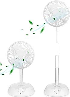 2020進化版 10000mAh 卓上扇風機 コードレス 扇風機 首振り USB充電式 折り畳み リビング扇風機 9段階風量調節可能 自然風 (1/2/4/8H) OFFタイマー 3way USB扇風機 リモコン付き DCモーター スタンドファ...