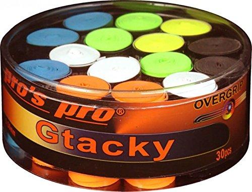 Spro Pro 's Pro Gtacky–Sobregrip para Raquetas–Tenis–Squash–Raqueta de bádminton–Raqueta Grip–Caja de 30, Varios