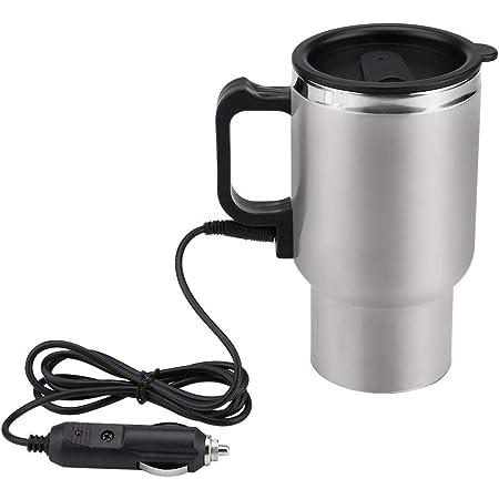 Keenso Auto 12v 450ml Edelstahl Elektro Wasserkocher Heizung Trinkbecher Becher Flasche Reisen Auto