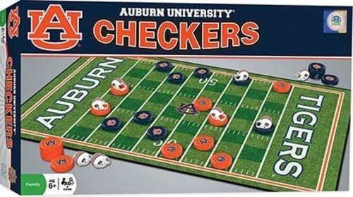 MasterPieces NCAA Auburn Tigers, Checkers Board Game, For Ages 6+