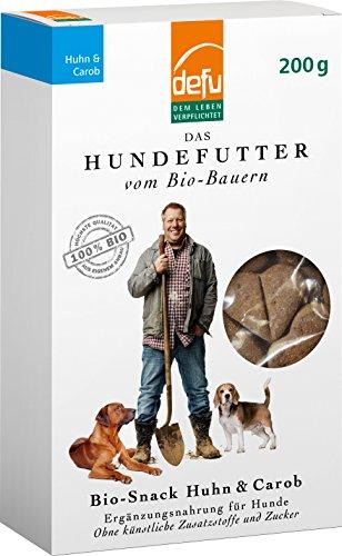 defu Bio Hundesnack Huhn & Carob, 6er Pack (6 x 200 g)
