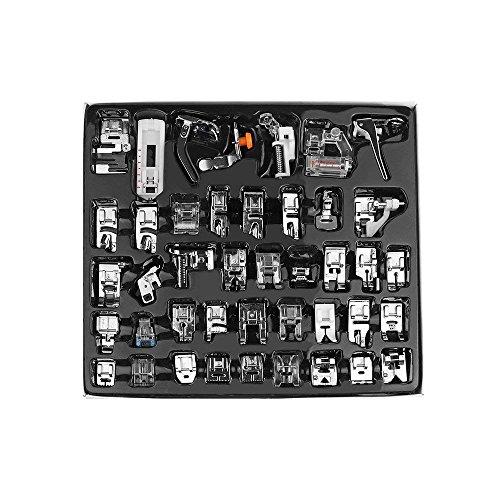 FamilyMall - Juego de prensatelas profesional para maquina de coser, 42 piezas, multifuncion, accesorio para hermano, babylock, Singer, Janome
