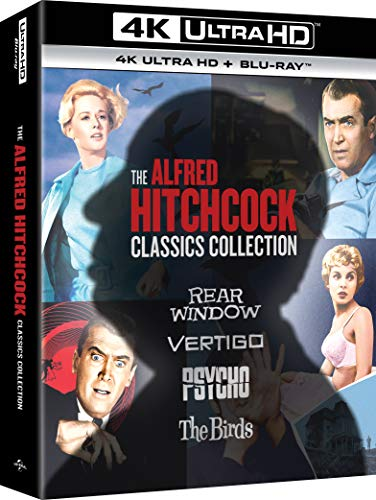 Alfred Hitchcock Collection - 4K Ultra Hd (La Finestra Sul Cortile, Psycho, La Donna Che Visse Due Volte, Gli Uccelli) (Box Set) (8 Blu Ray)