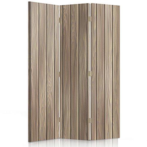Feeby Frames Paravent déco Planches Impression 1 Face Marron 110x150 cm
