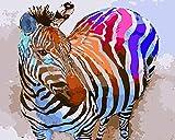 SiJOO Fai da Te Pittura Digitale colorazione Pittura a Olio Carta da Parati Pittura per Bambini Taobao Generazione Panno per Capelli Paesaggio Decorazione Animale Pittura Colore Zebra