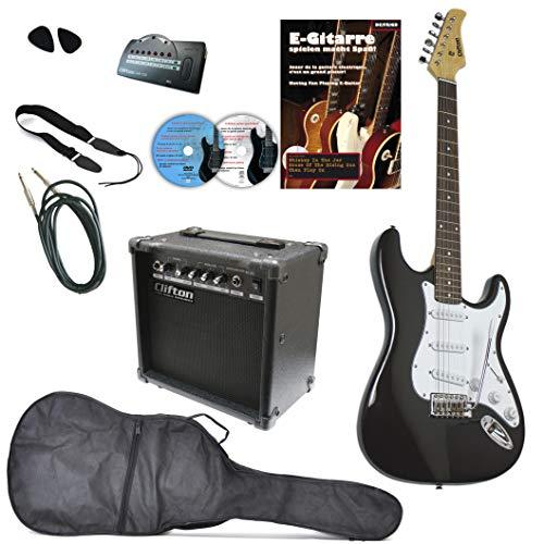 E-Gitarren Set Clifton ST Black Mega Set