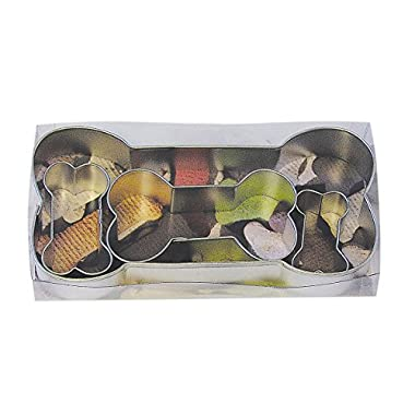 R&M International 1906 Dog Bone Cookie Cutters, Assorted Sizes, 4-Piece Set