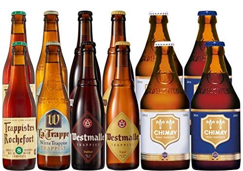 Trappistenbierpaket 12 x 0,33 l. Geschenk für Männer + Geschenk für Bierliebhaber + Bier für besinnlichen Biergenuss + Geburtstag + Weihnachten +