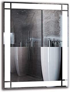 Espejo LED Premium - Dimensiones del Espejo 60x80 cm - Espejo de baño con iluminación LED - Espejo de Pared - Espejo de luz - Espejo con iluminación - ARTTOR M1ZP-60-60x80 - Blanco frío 6500K