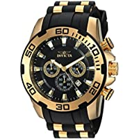 Invicta 22340 Men's Pro Diver Stainless Steel Quartz Watch with Silicone Strap