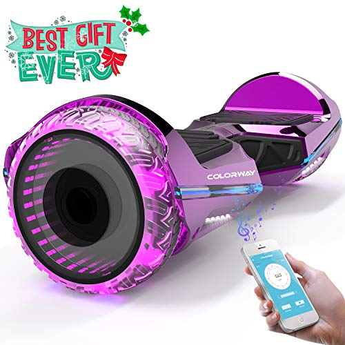 Colorway CX911 Advanced Premium Hover Scooter Board SUV 6.5''- Patinete Eléctrico Auto-equilibrio con Bluetooth y APP- Ruedas Total Led - Dual Motor - EU Estándar de Seguridad Inteligente Scooter