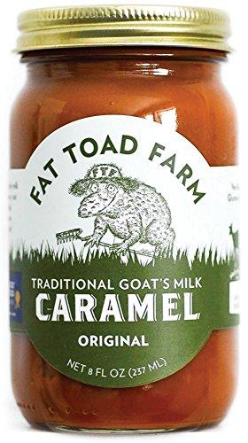 Fat Toad Farm Traditional Goat's Milk Caramel Sauce, Original, 8 fl oz Jar, Cajeta, Gluten Free