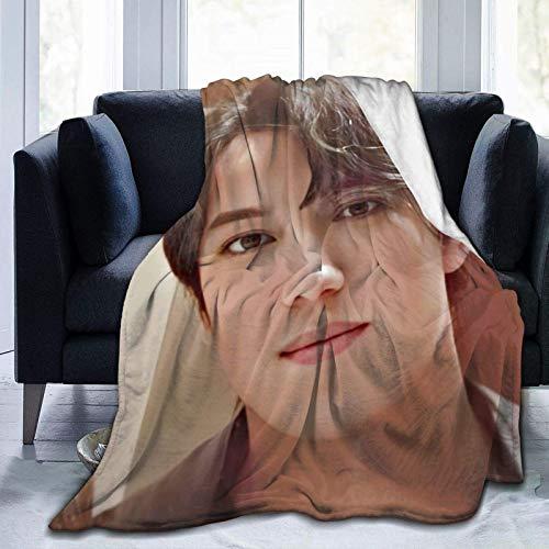 VJSDIUD Dimash Kudaibergen Mantas Mantas de Microfibra Manta de Microfibra Ultra Suave Adecuado para sofás Dormitorios Picnics Todas Las Estaciones (50 'x40')