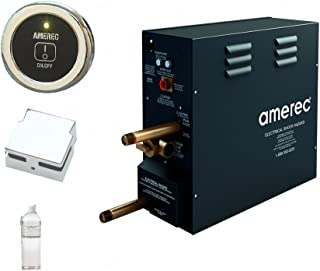 Amerec AK 7.5 KW Steam Bath Generator with R30K On/Off Control - Steam Head and Free Aroma Therapy Oil