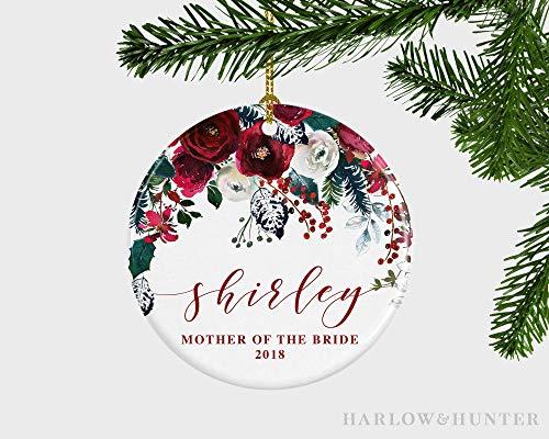 JamirtyRoy1 - Adorno navideño para la Madre de la Novia, Adorno de Navidad para la Madre de la Novia, Regalo de Recuerdo para el día de mi Boda, Adorno de Navidad de 3 Pulgadas