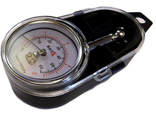Xtremeauto® Premium, Acier inoxydable, kit de jauge de pression de pneu avec coque