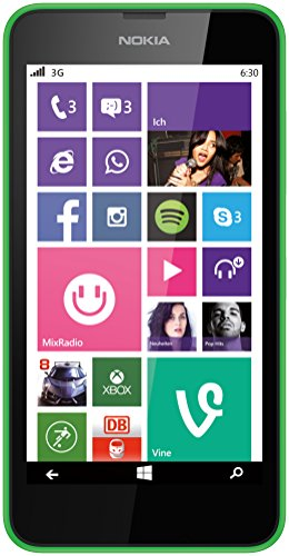 Nokia Lumia 630 Single-SIM Smartphone (4,5 Zoll (11,4 cm) Touch-Display, 8 GB Speicher, Windows 8.1) grün