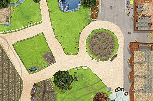 Bauernhof Spielteppich | Hochwertige Reiterhof Spiel-Matte für das Kinder-Zimmer | ideales Zubehör zu Spiel-Figuren von Schleich, Playmobil, Papo, Bullyland & Co | 150 x 100 cm | SM01 | STIKKIPIX
