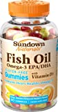 Sundown Omega Plus D3 Gummies, 50 Count