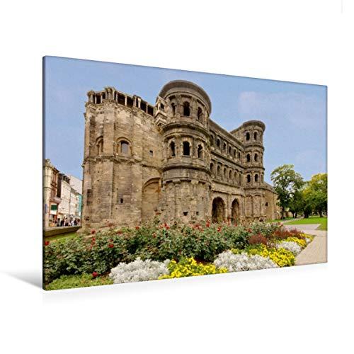 Premium Textil-Leinwand 120 x 80 cm Quer-Format Porta Nigra in Trier, Deutschland | Wandbild, HD-Bild auf Keilrahmen, Fertigbild auf hochwertigem Vlies, Leinwanddruck von LianeM