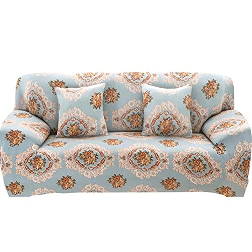 ASCV Funda de sofá elástica Fundas para sofá con Todo Incluido Funda de sofá para Diferentes Formas Sofá Loveseat Silla Estilo L Necesita 2 Funda de sofá A1 4 plazas