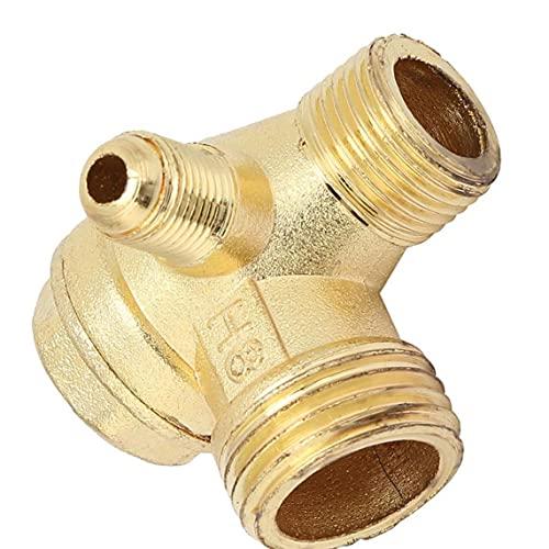 Ohomr Compresor de Aire válvula de retención, de latón de 90 Grados Rosca Macho Conector del Tubo, de latón válvula de retención, conectar Accesorios de tubería de Piezas de Repuesto 20x16x10mm