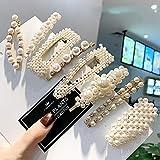 Prendedores para el cabello con perlas, 8 pcs. Perlas artificiales para el cabello. Perlas decorativas para el cabello. Accesorios para el cabello hechos a mano para niñas y mujeres,StyleSet7