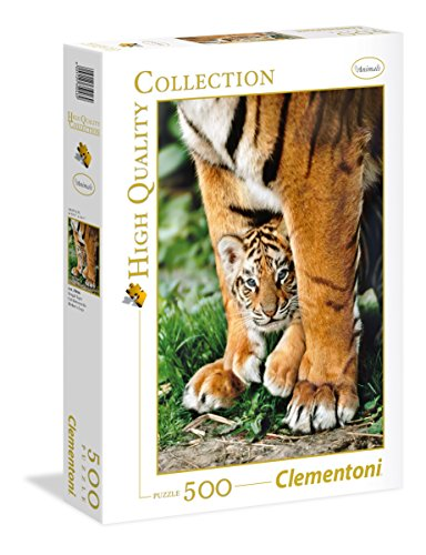Clementoni- Bengal Tiger Cub Between Its Mot Collection Puzzle, 500 Pezzi, 35046