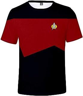 Silver Basic Camiseta Unisex con Logo Dorado de Camiseta Original de la Serie Original Top Uniforme de Mr.Spock para Fanát...