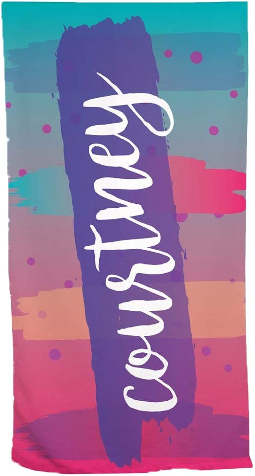 GiftsForYouNow Gradient Splash Charlotte Mall Personalized Seasonal Wrap Introduction Beach Purple Towel