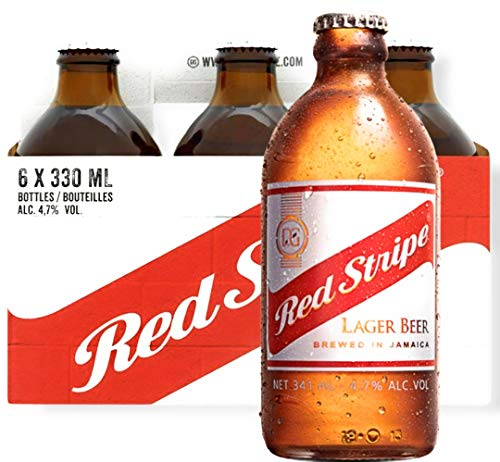 6 x Red Stripe 0,33 l Flasche Bier aus Jamaika Premium Lager Beer inkl. Pfand