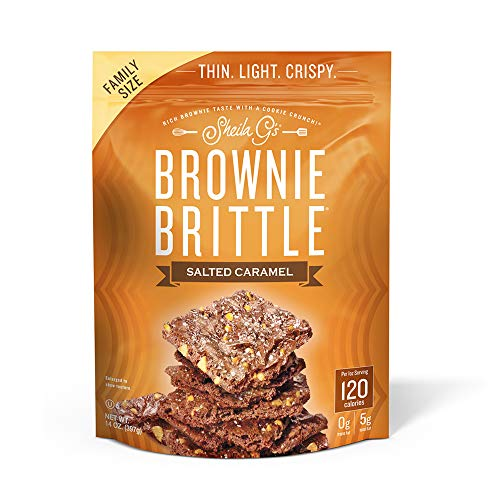Sheila G's Brownie Brittle, Salted Caramel, 14 Ounce Bag (Pack of 9)