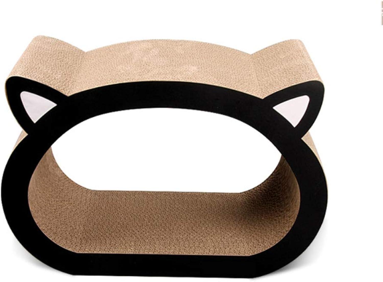 Cat toy, cat head shape cat scratch board large corrugated paper cat scratch board sharpener (Size   Xl)